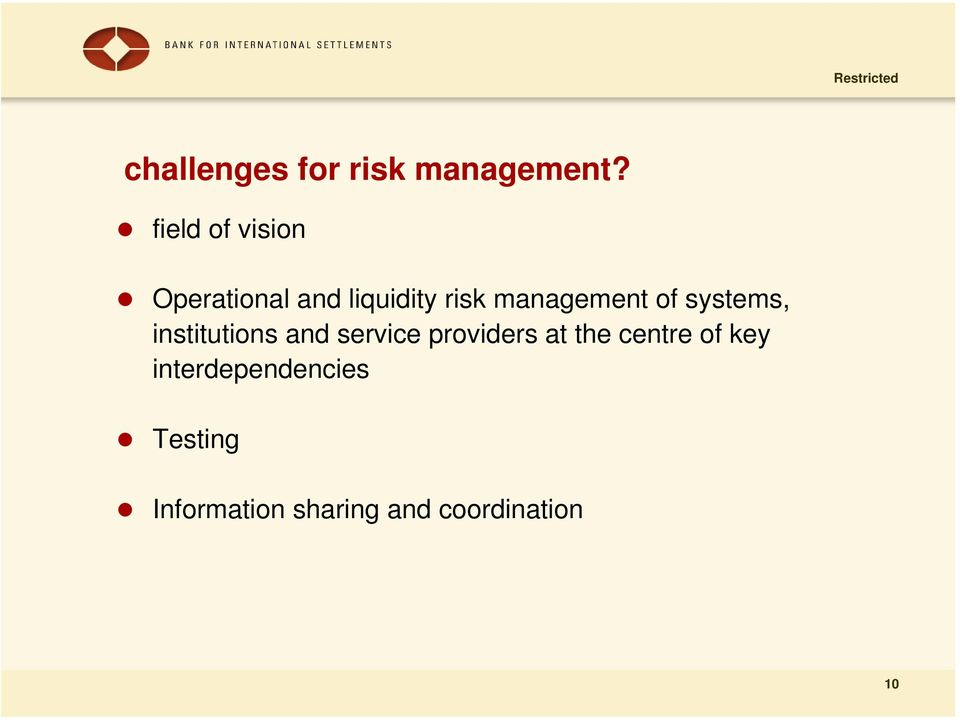 management of systems, institutions and service