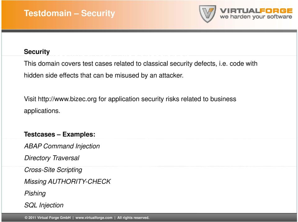 org for application security risks related to business applications.