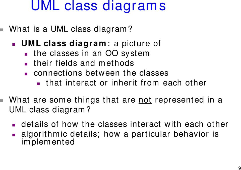 Design and uml class diagrams suggested reading practical uml a between the classes that interact or inherit from each other what are some things that are ccuart Image collections
