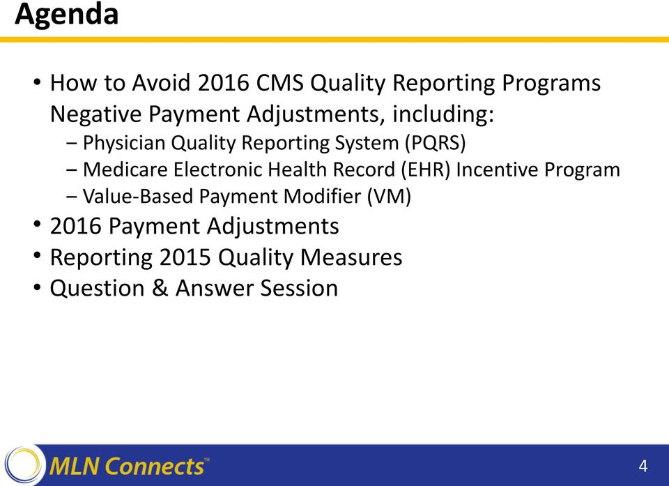 Electronic Health Record (EHR) Incentive Program Value-Based Payment Modifier
