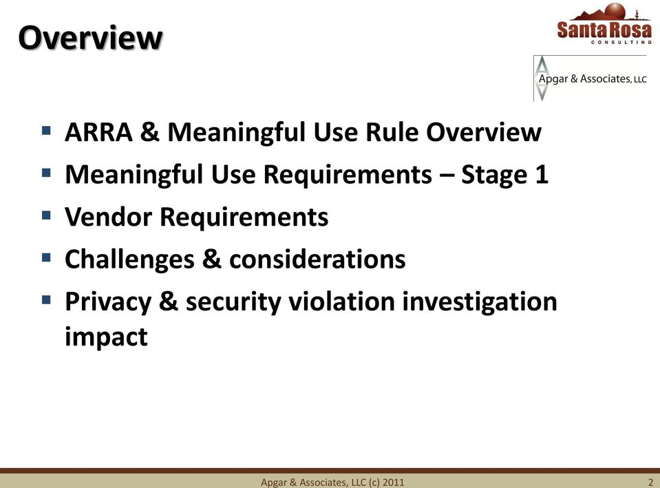 Requirements Challenges & considerations Privacy &
