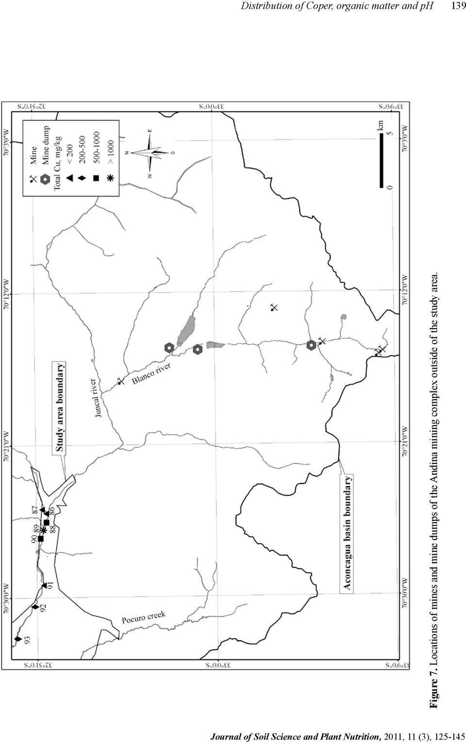 Locations of mines and mine dumps of