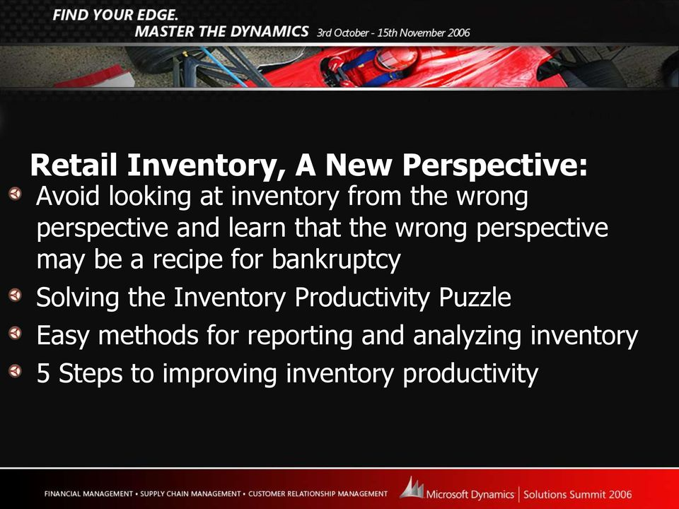 for bankruptcy Solving the Inventory Productivity Puzzle Easy methods for