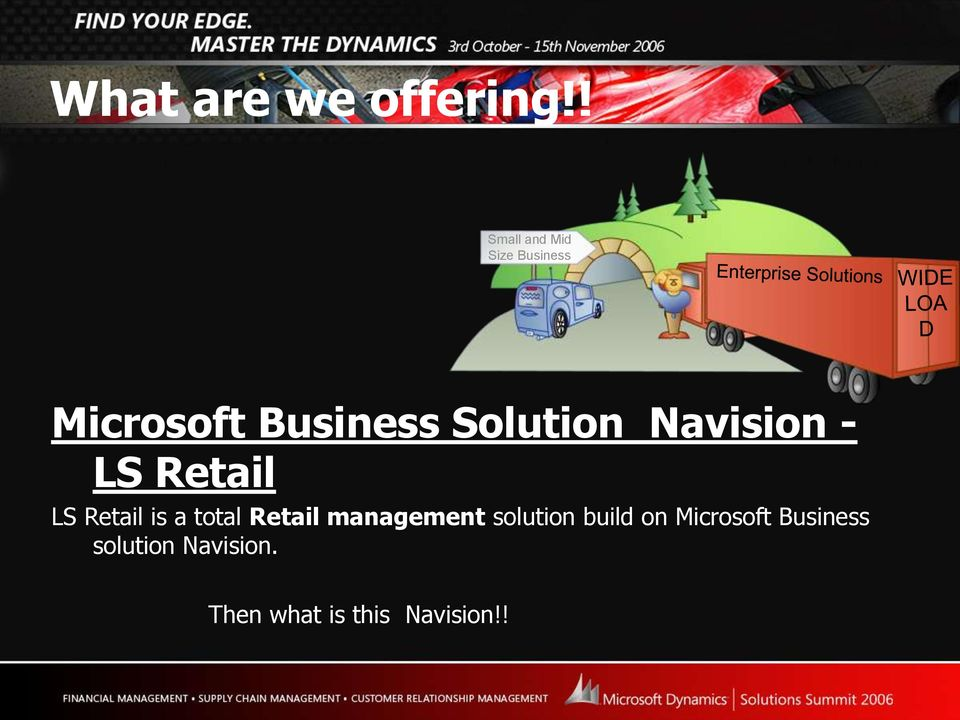 Solution Navision - LS Retail LS Retail is a total