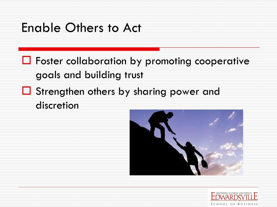 cooperative goals and building