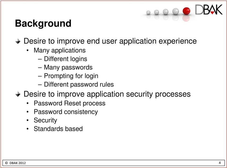 Different password rules Desire to improve application security