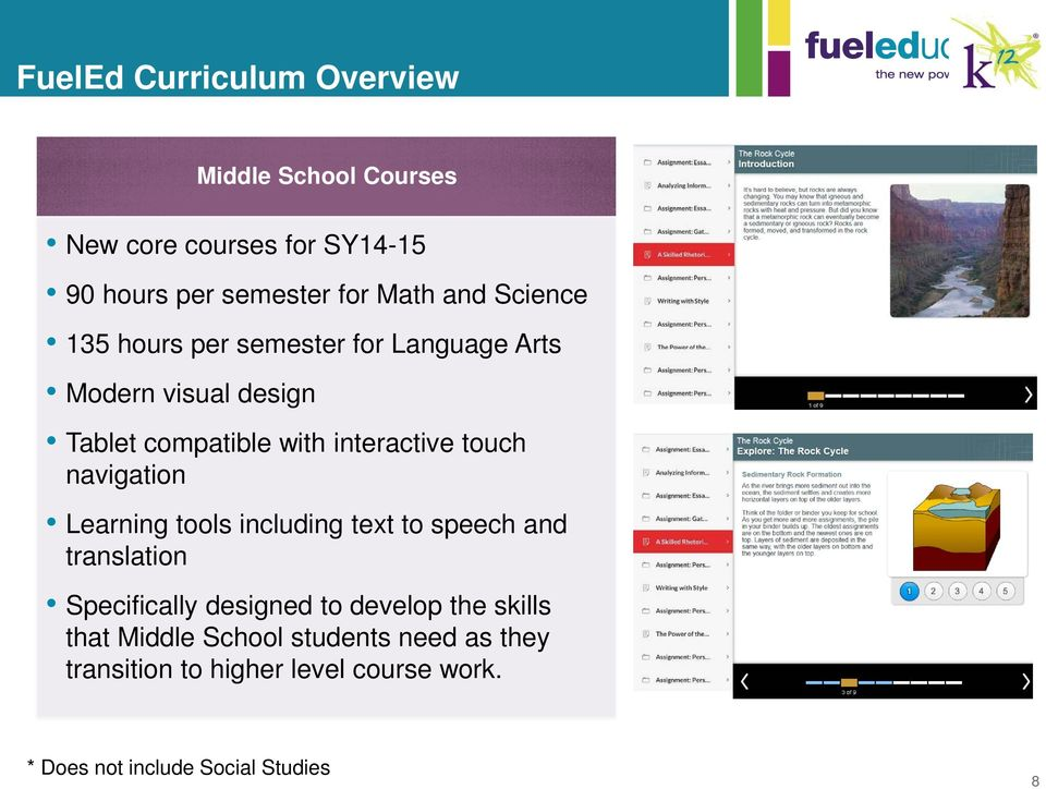 navigation Learning tools including text to speech and translation Specifically designed to develop the skills