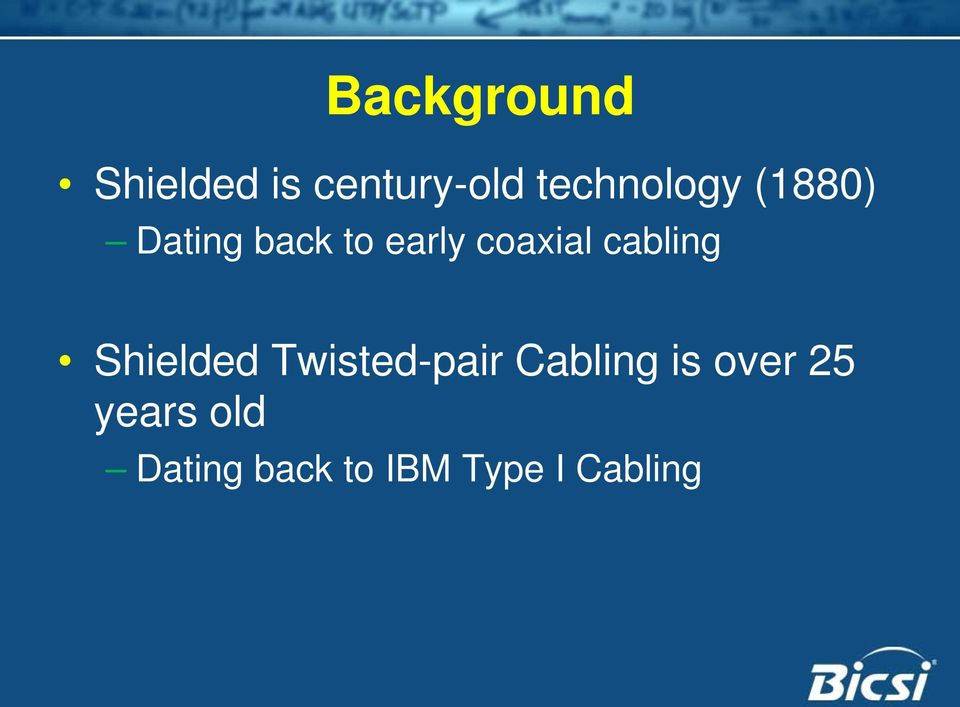 coaxial cabling Shielded Twisted-pair