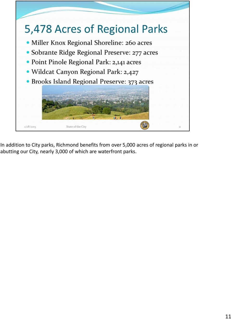 regional parks in or abutting our