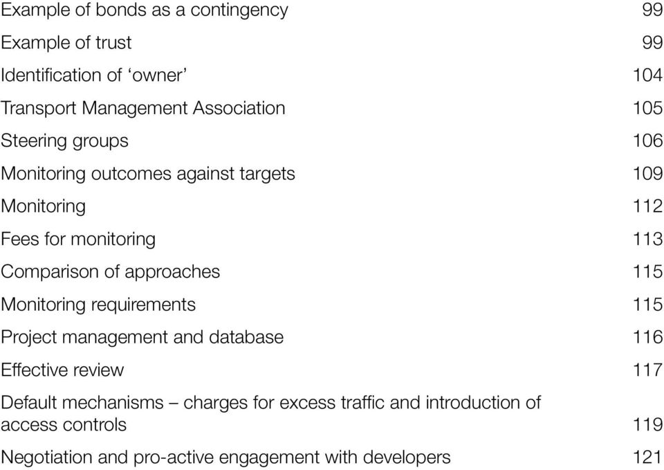 approaches 115 Monitoring requirements 115 Project management and database 116 Effective review 117 Default mechanisms