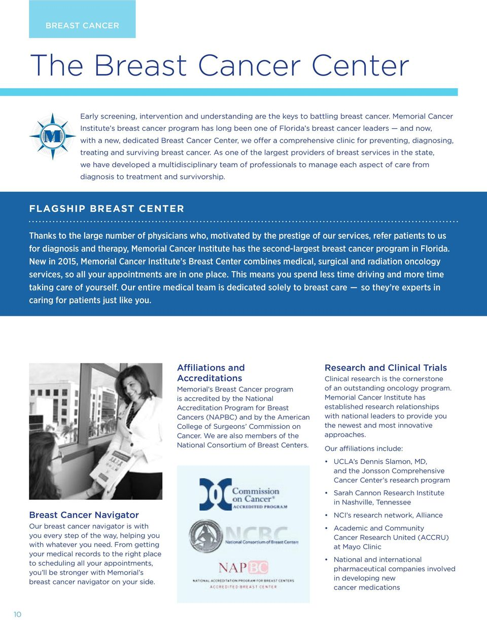preventing, diagnosing, treating and surviving breast cancer.