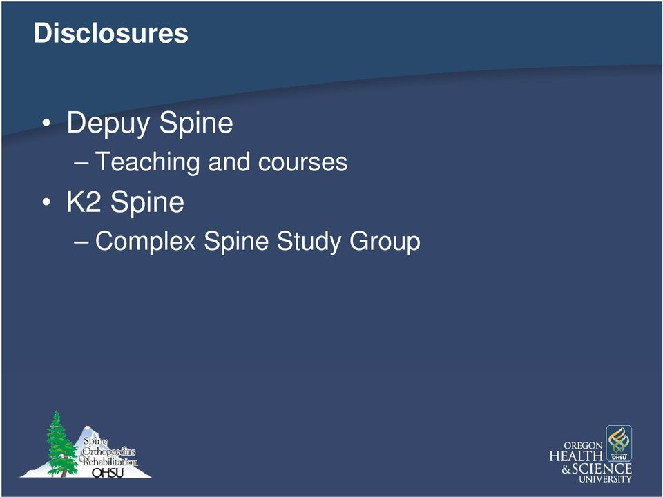 courses K2 Spine