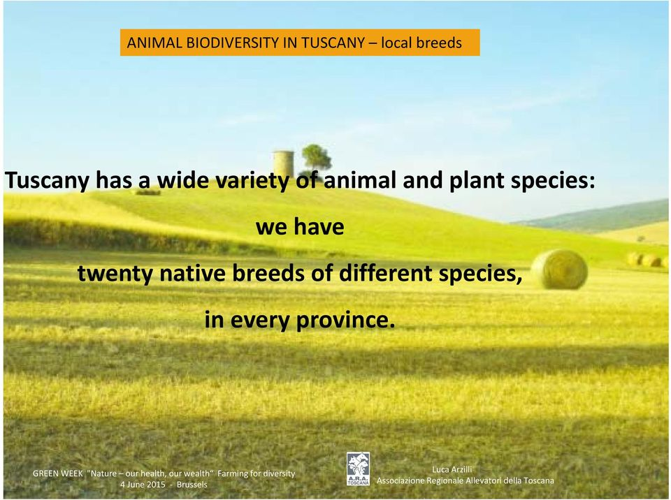 animal and plant species: we have twenty