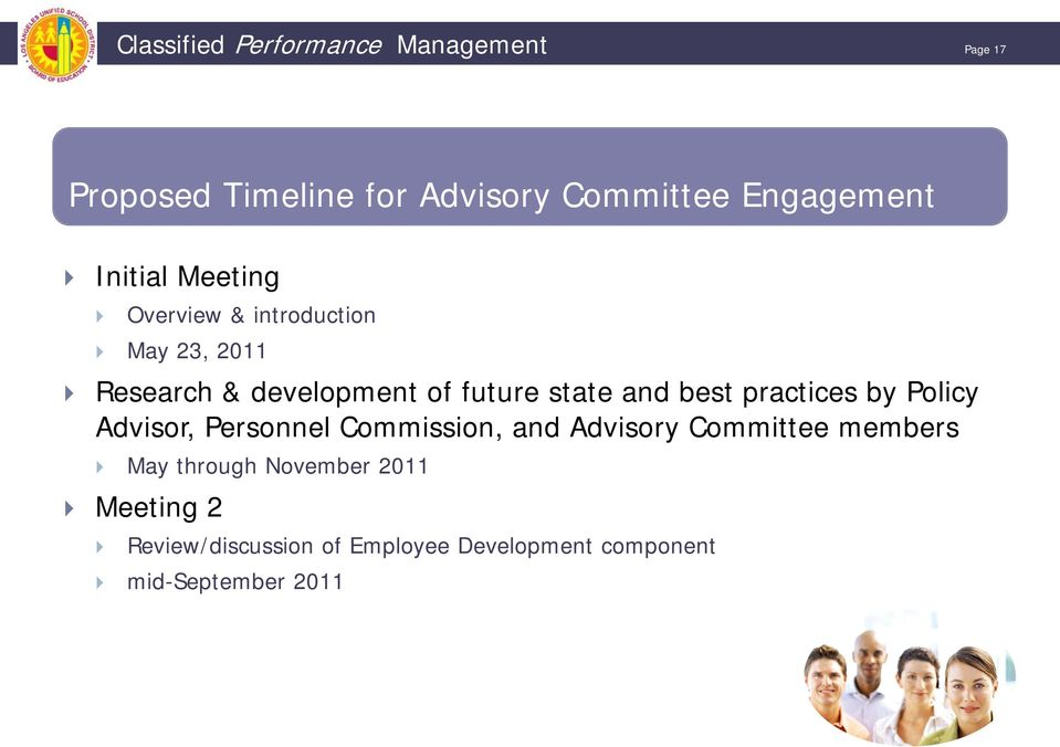 best practices by Policy Advisor, Personnel Commission, and Advisory Committee members May