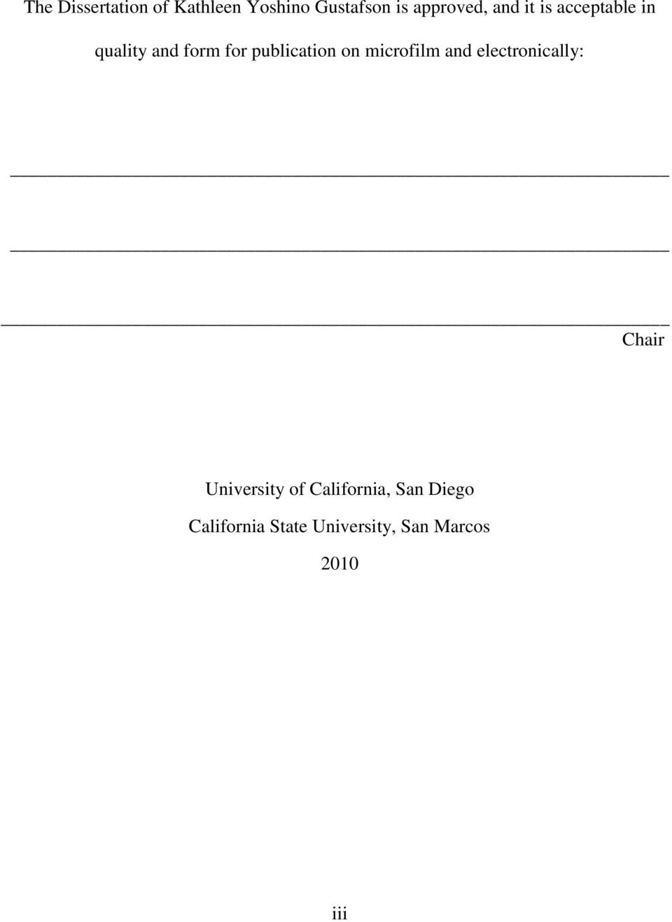 publication on microfilm and electronically: Chair University