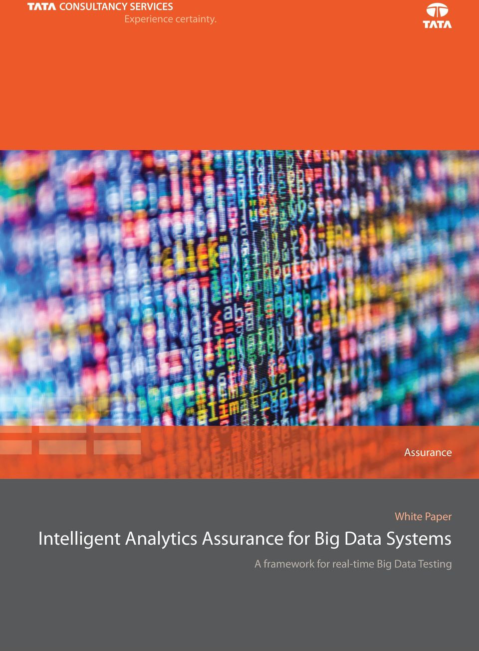 Assurance for Big Data