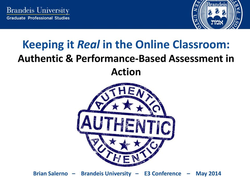 Performance-Based Assessment in