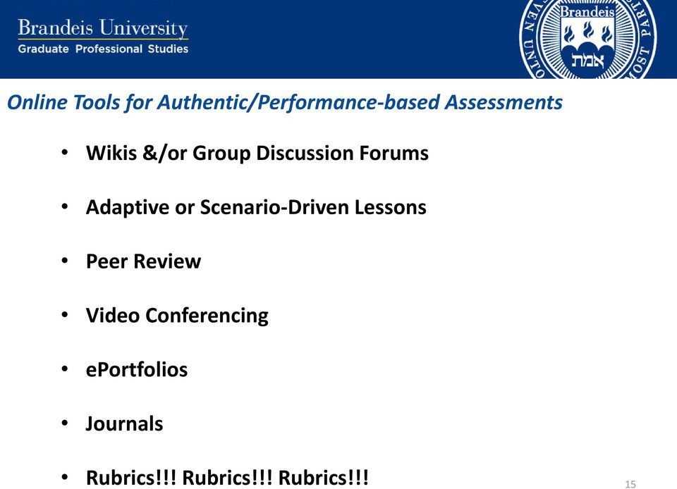 Adaptive or Scenario-Driven Lessons Peer Review Video