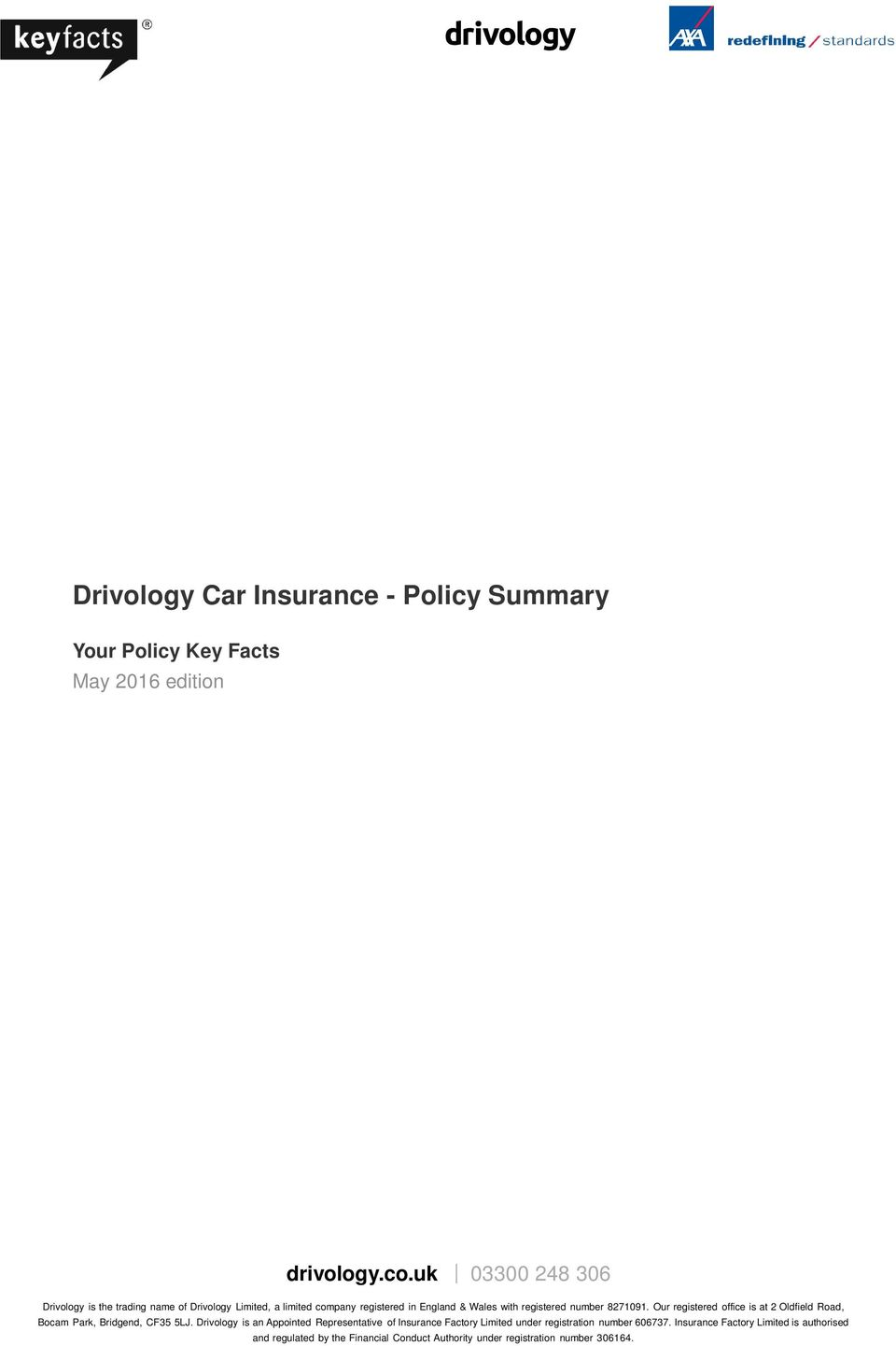 Summary Your Policy