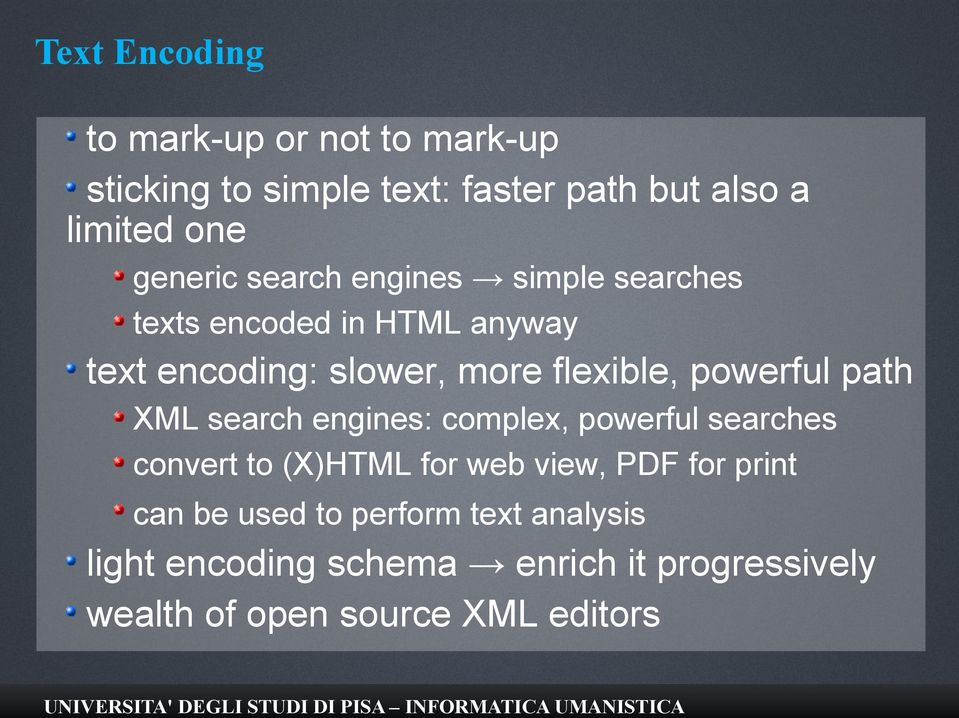 powerful path XML search engines: complex, powerful searches convert to (X)HTML for web view, PDF for print
