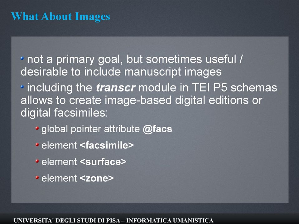 allows to create image-based digital editions or digital facsimiles: