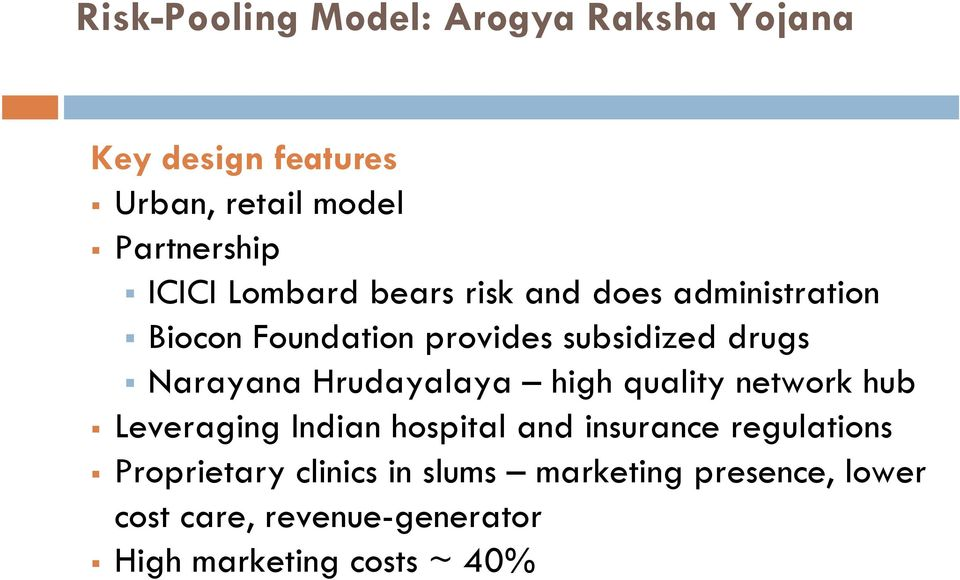 Hrudayalaya high quality network hub Leveraging Indian hospital and insurance regulations