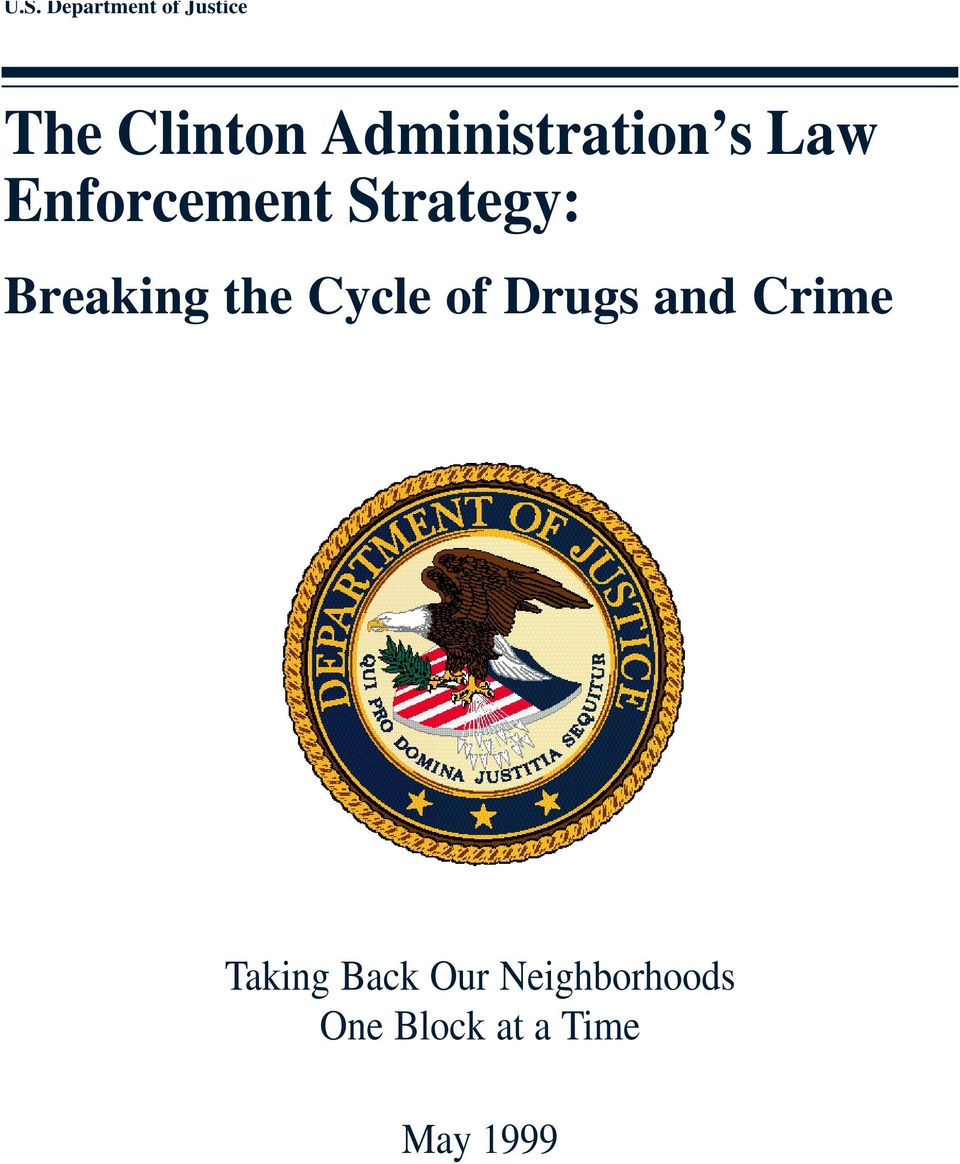Breaking the Cycle of Drugs and Crime Taking