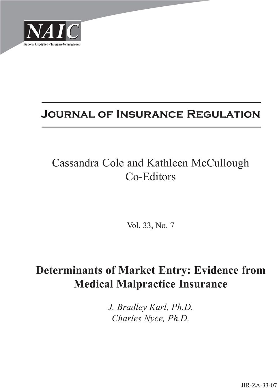 7 Determinants of Market Entry: Evidence from Medical