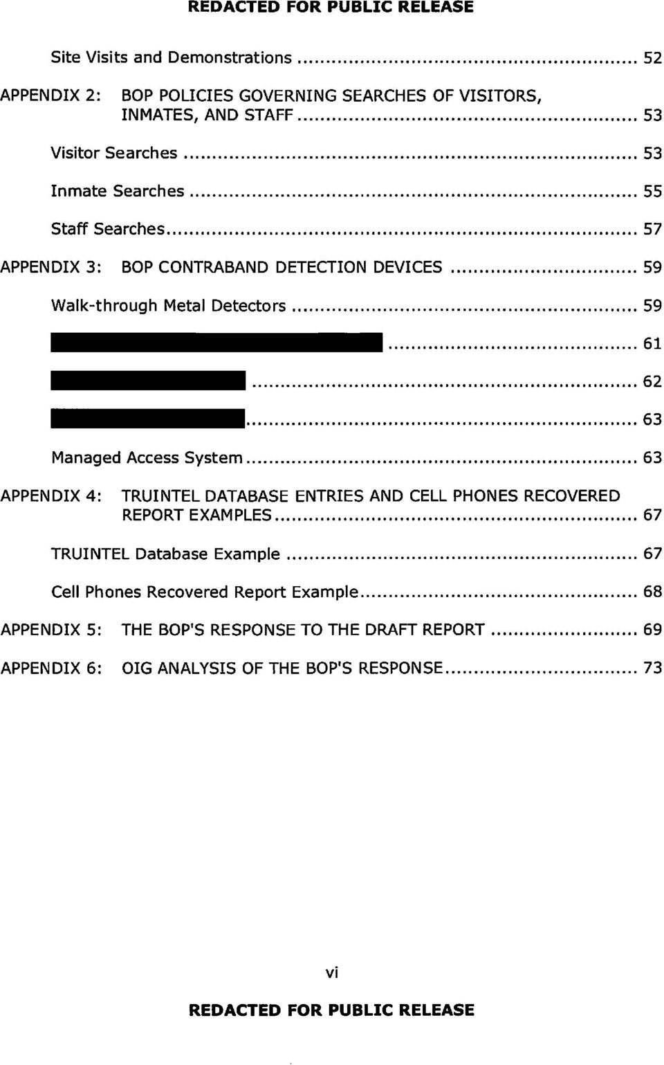 Review of the Federal Bureau of Prisons' Contraband