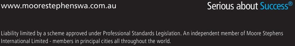 approved under Professional Standards Legislation.