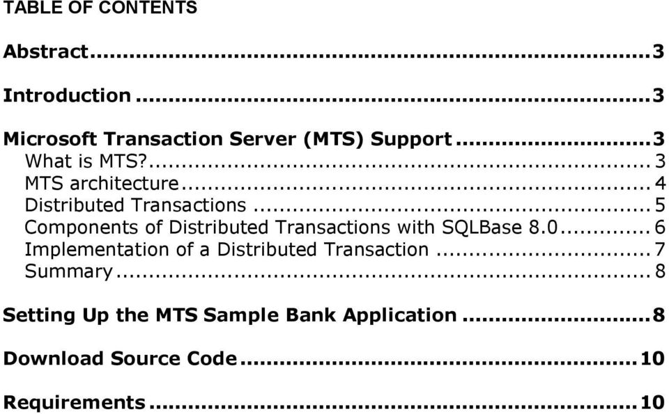 .. 5 Components of Distributed Transactions with SQLBase 8.0.
