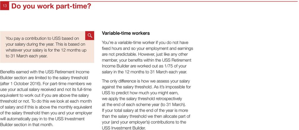 For part-time members we use your actual salary received and not its full-time equivalent to work out if you are above the salary threshold or not.