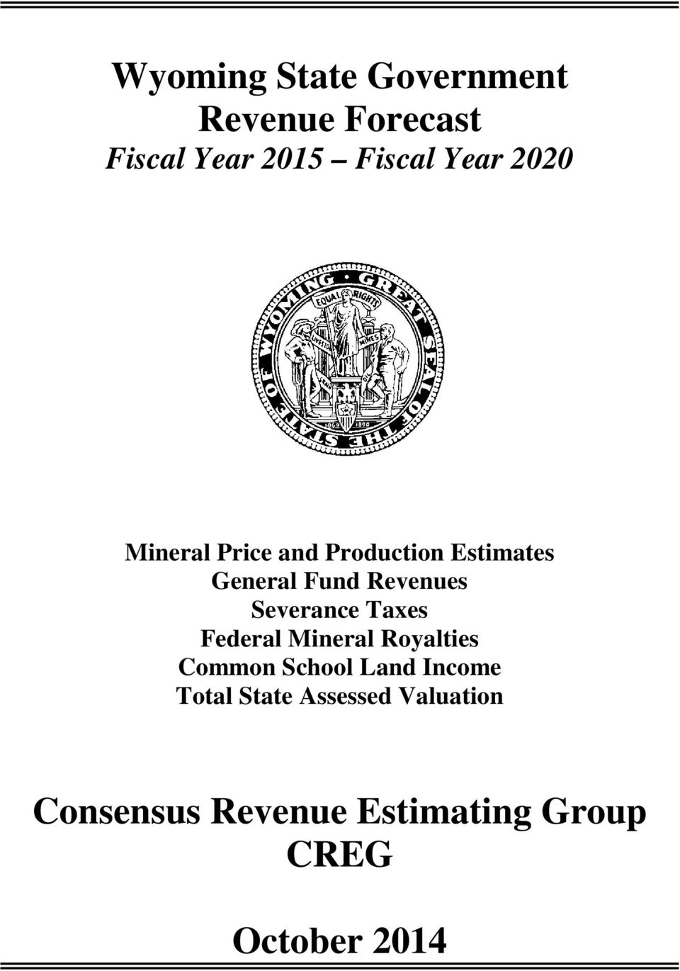 Severance Taxes Federal Mineral Royalties Common School Land Income