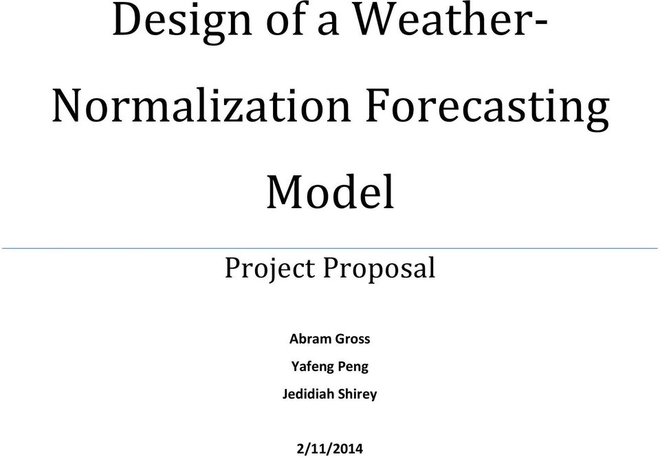 Model Project Proposal Abram
