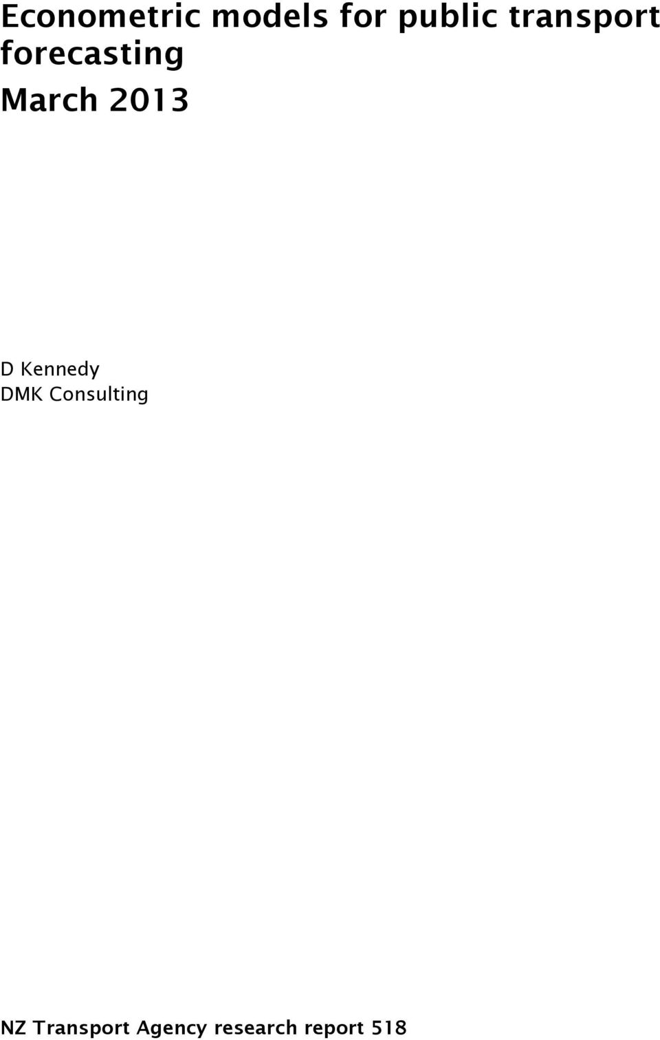 D Kennedy DMK Consulting NZ