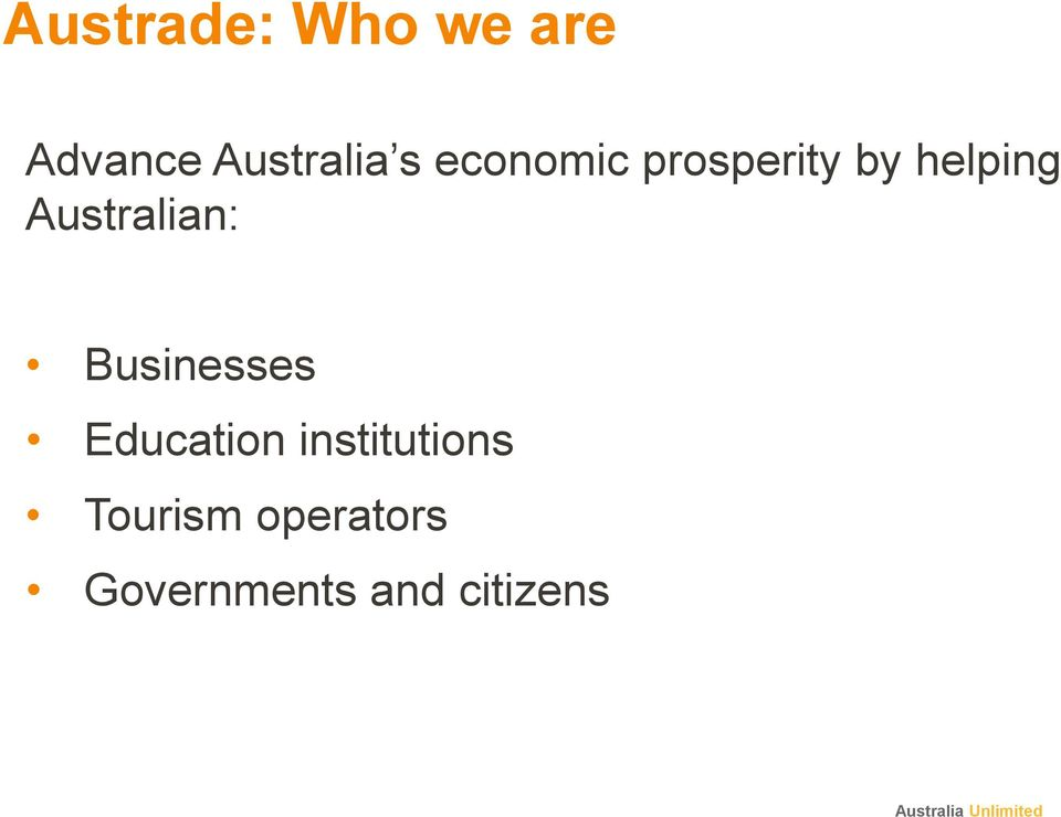 Australian: Businesses Education