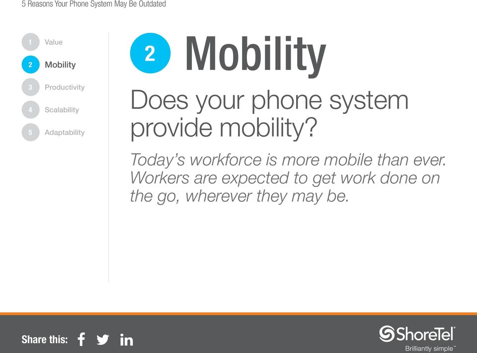 Today s workforce is more mobile than ever.