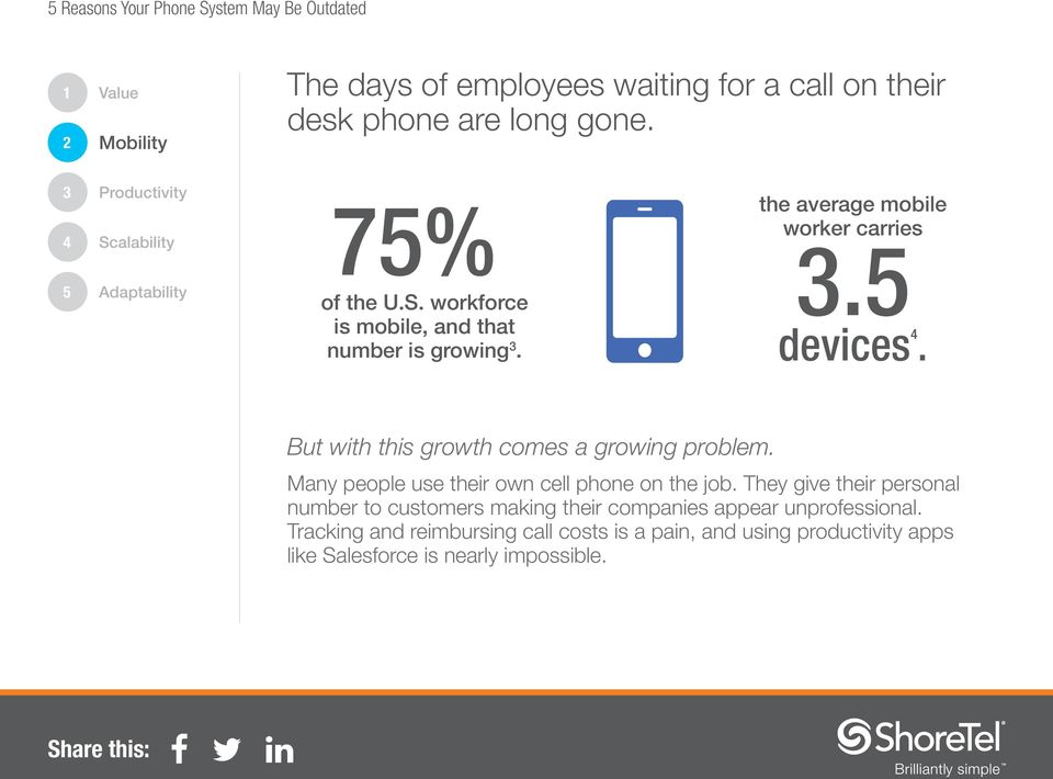 But with this growth comes a growing problem. Many people use their own cell phone on the job.