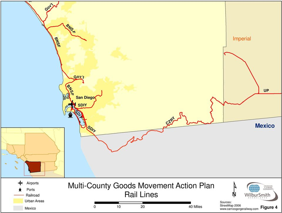 Mexico Multi-County Goods Movement Action Plan Rail Lines 0 10