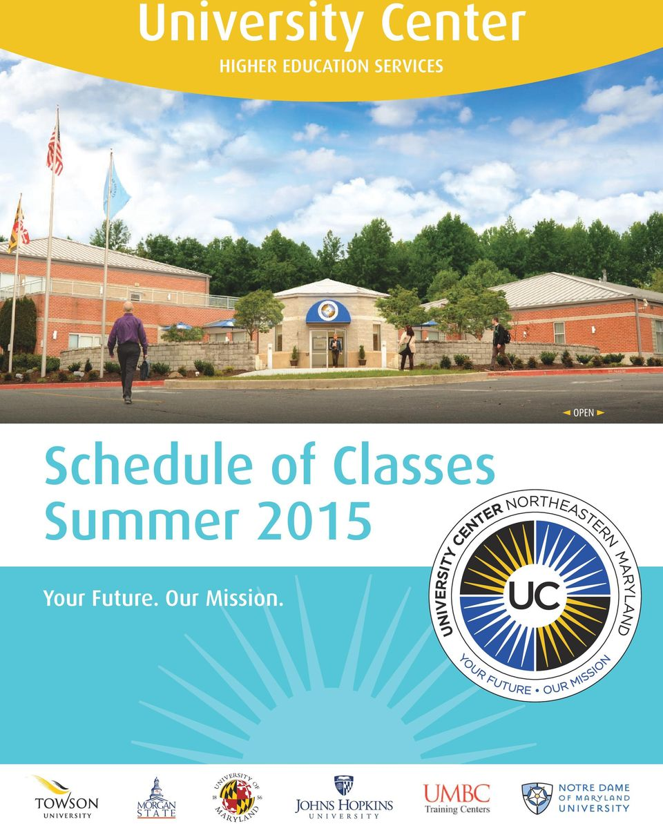 Schedule of Classes Summer