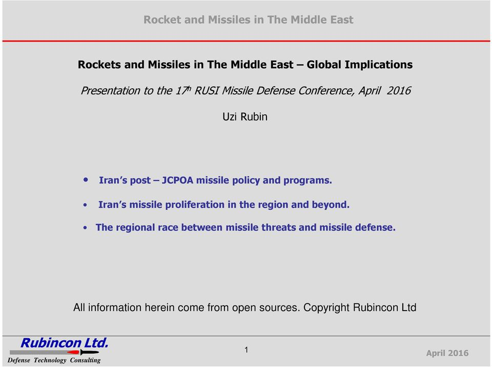 Iran s missile proliferation in the region and beyond.