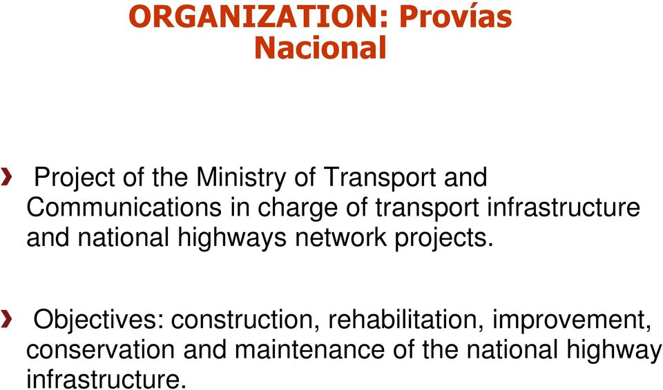 highways network projects.