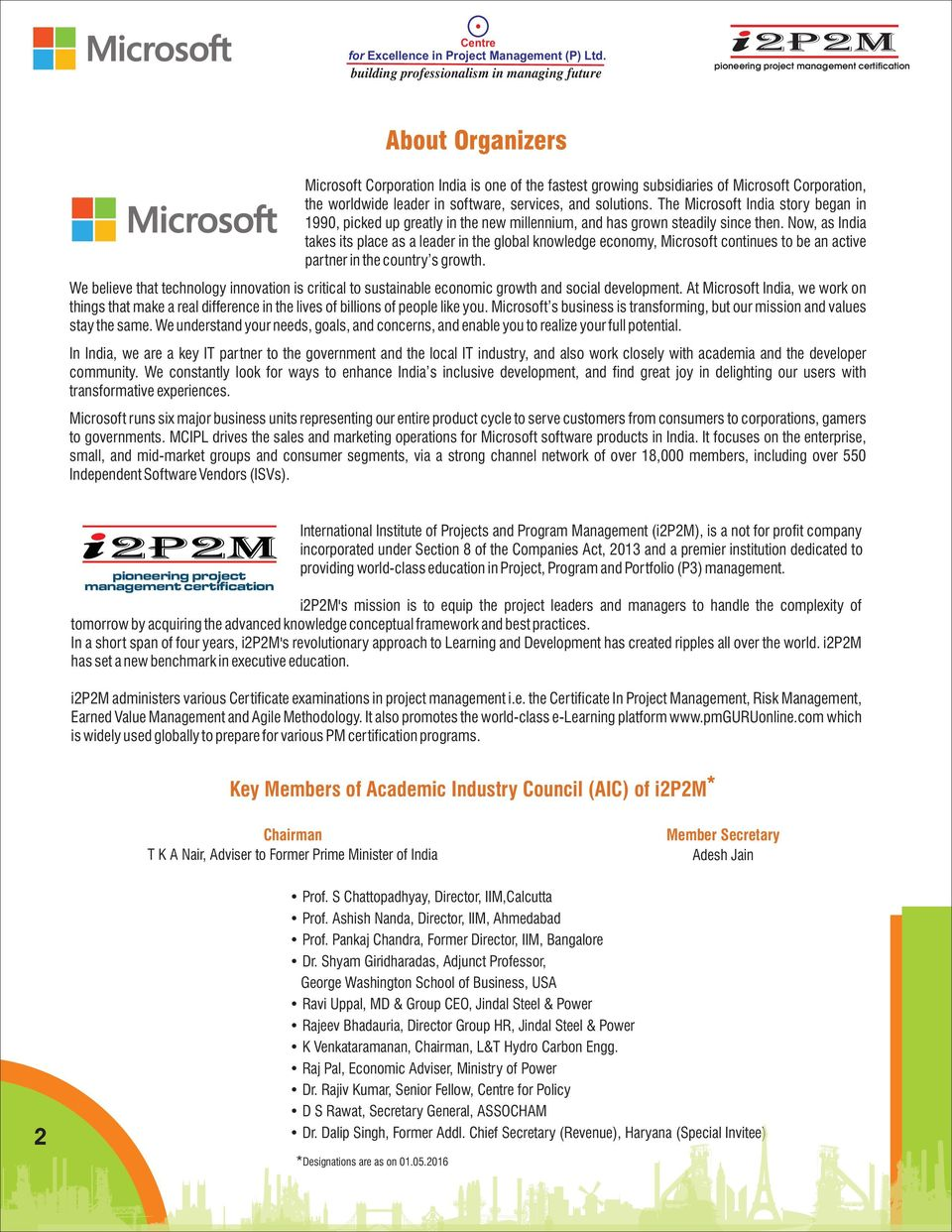 Totality Of Project Management With Specialization In Microsoft