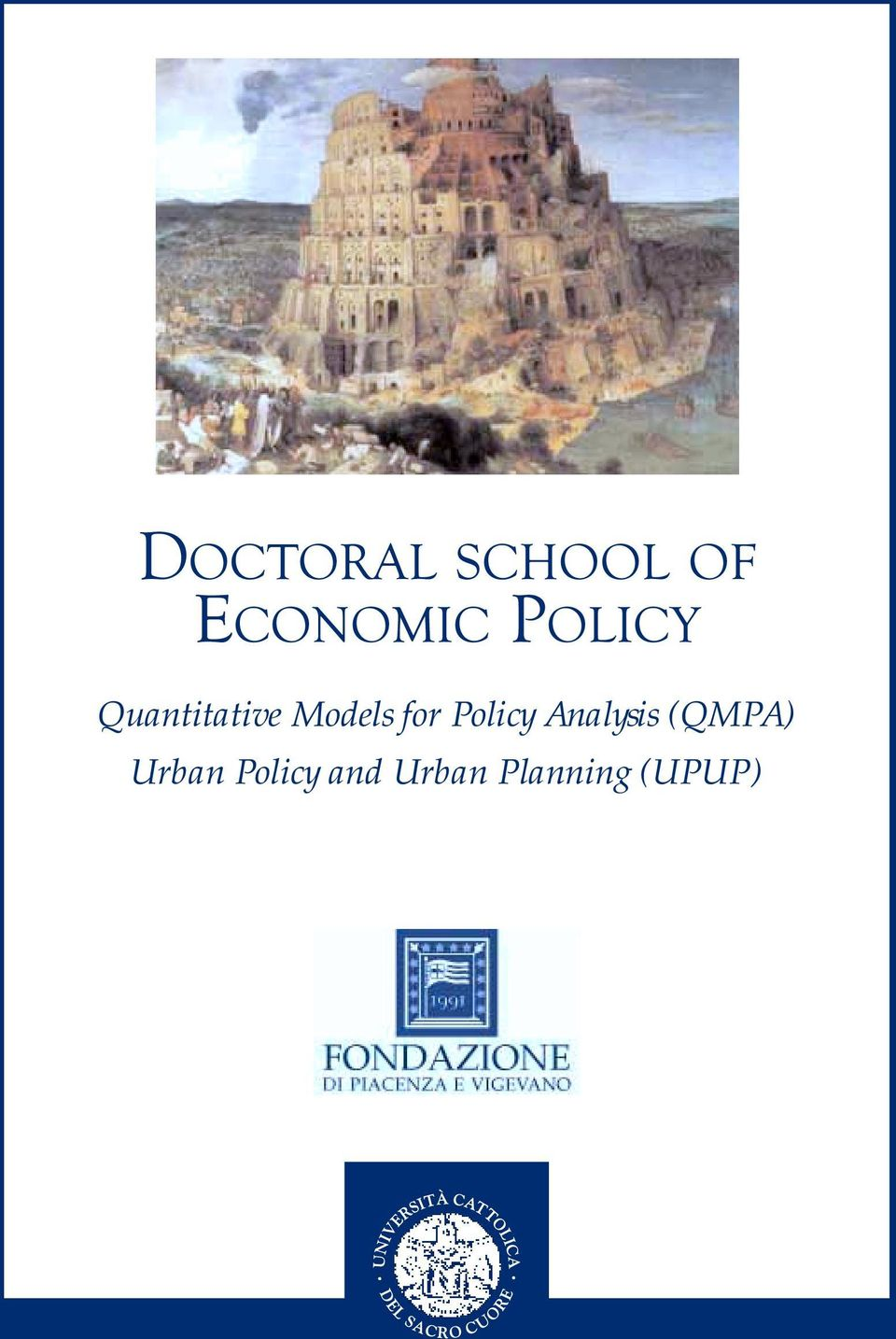 for Policy Analysis (QMPA)