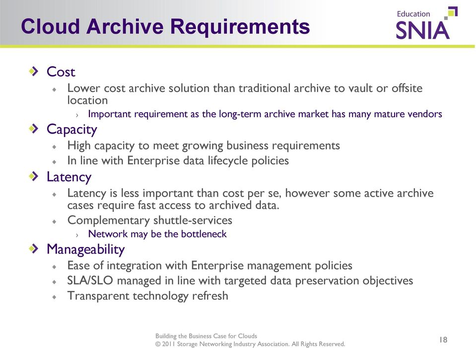 important than cost per se, however some active archive cases require fast access to archived data.