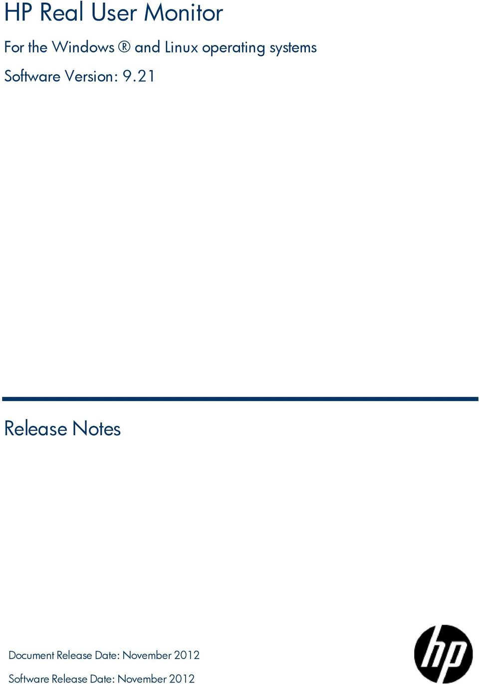 21 Release Notes Document Release Date: