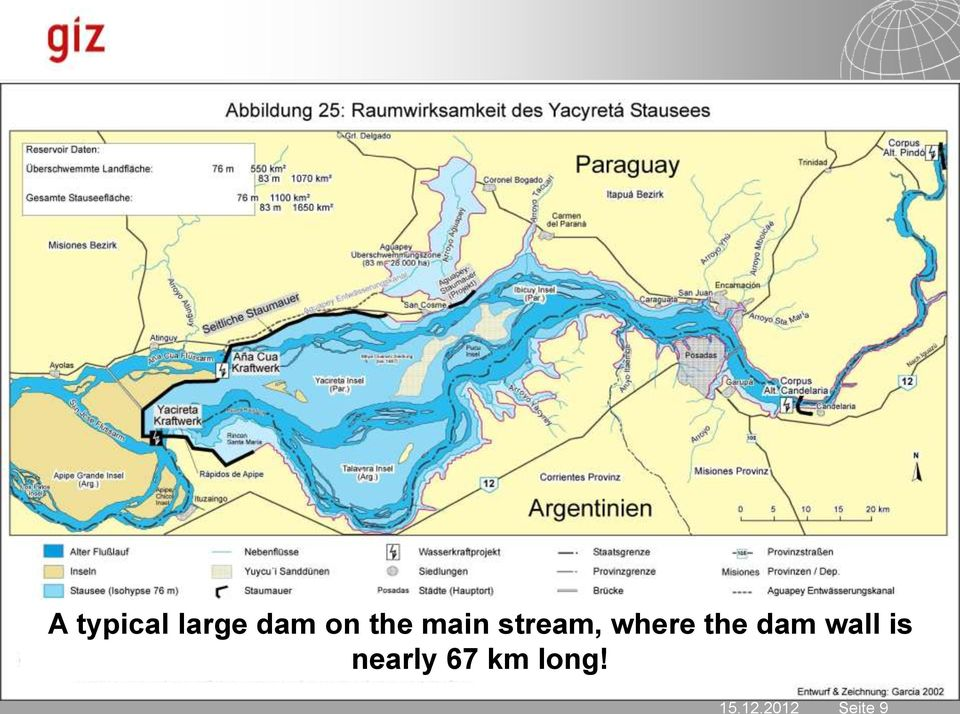 where the dam wall is