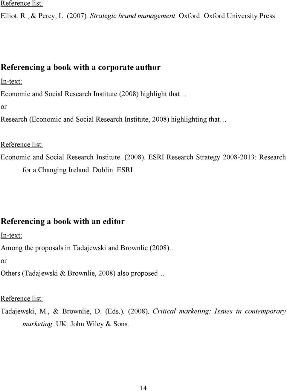 highlighting that Economic and Social Research Institute. (2008). ESRI Research Strategy 2008-2013: Research for a Changing Ireland. Dublin: ESRI.