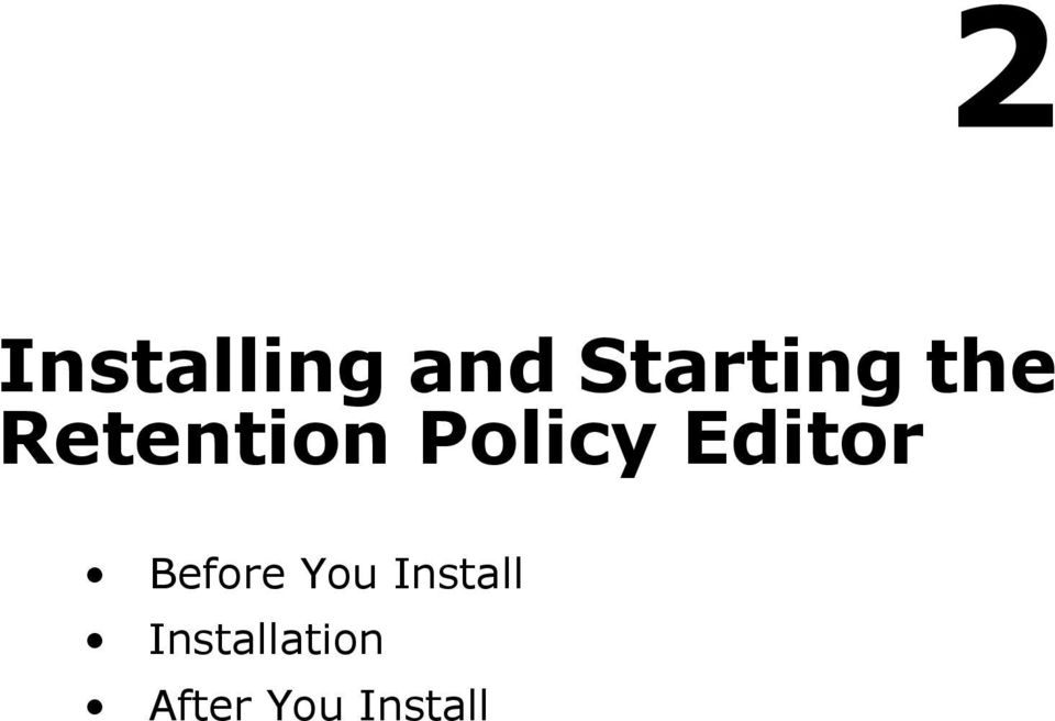 Editor Before You Install