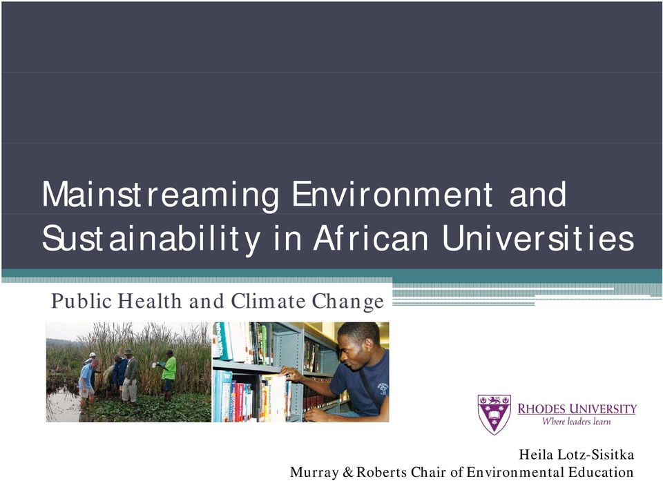 Public Health and Climate Change Heila